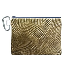 Brushed Gold 050549 Canvas Cosmetic Bag (L)