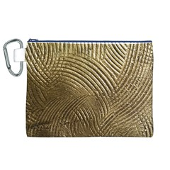 Brushed Gold 050549 Canvas Cosmetic Bag (xl)