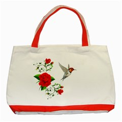 Red Roses Decor Clipart Classic Tote Bag (red)