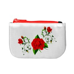 Red Roses Decor Clipart Mini Coin Purses