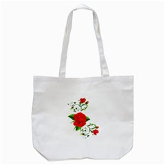 Red Roses Decor Clipart Tote Bag (White)