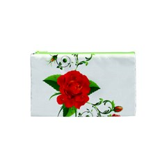 Red Roses Decor Clipart Cosmetic Bag (xs)