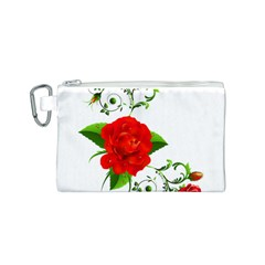 Rose Garden Canvas Cosmetic Bag (S)