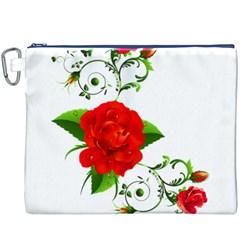 Rose Garden Canvas Cosmetic Bag (xxxl)