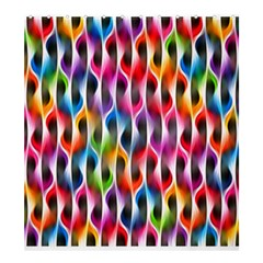 Rainbow Psychedelic Waves  Shower Curtain 66  x 72  (Large)