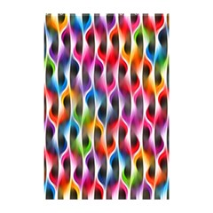 Rainbow Psychedelic Waves  Shower Curtain 48  X 72  (small)