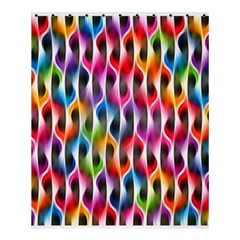 Rainbow Psychedelic Waves  Shower Curtain 60  x 72  (Medium)