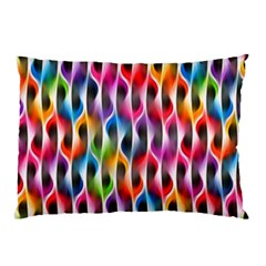 Rainbow Psychedelic Waves  Pillow Cases (two Sides)