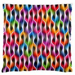 Rainbow Psychedelic Waves  Large Flano Cushion Cases (one Side)