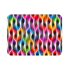 Rainbow Psychedelic Waves  Double Sided Flano Blanket (mini)