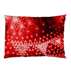 Red Fractal Lace Pillow Cases