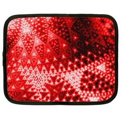 Red Fractal Lace Netbook Case (xxl)
