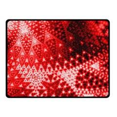 Red Fractal Lace Double Sided Fleece Blanket (small)