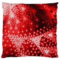 Red Fractal Lace Large Flano Cushion Cases (One Side)