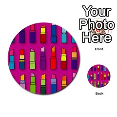 Lipsticks Pattern Multi-purpose Cards (Round)