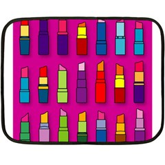 Lipsticks Pattern Fleece Blanket (mini)