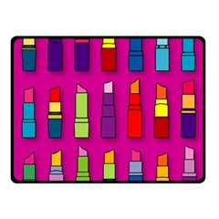 Lipsticks Pattern Fleece Blanket (small)