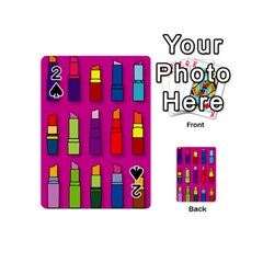 Lipsticks Pattern Playing Cards 54 (Mini)