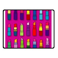 Lipsticks Pattern Double Sided Fleece Blanket (Small)