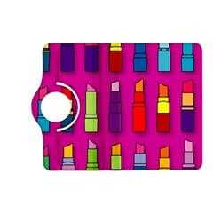 Lipsticks Pattern Kindle Fire HD (2013) Flip 360 Case