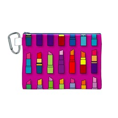 Lipsticks Pattern Canvas Cosmetic Bag (M)