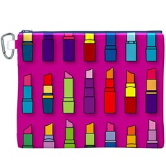 Lipsticks Pattern Canvas Cosmetic Bag (XXXL)