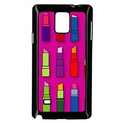 Lipsticks Pattern Samsung Galaxy Note 4 Case (black)