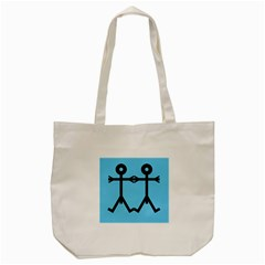 Love Men Icon Tote Bag (Cream)