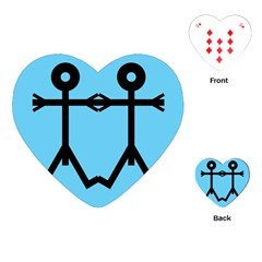 Love Men Icon Playing Cards (Heart)