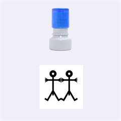 Love Men Icon Rubber Round Stamps (Small)