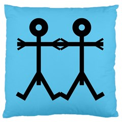 Love Men Icon Large Flano Cushion Cases (one Side)
