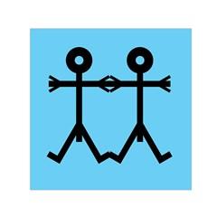 Love Men Icon Small Satin Scarf (square)