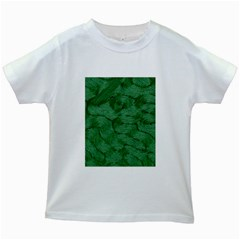 Woven Skin Green Kids White T Shirts