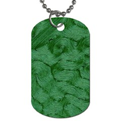 Woven Skin Green Dog Tag (two Sides)