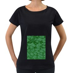 Woven Skin Green Women s Loose-Fit T-Shirt (Black)