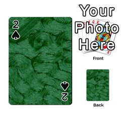 Woven Skin Green Playing Cards 54 Designs