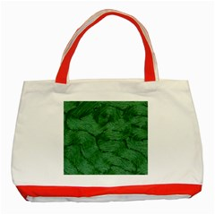 Woven Skin Green Classic Tote Bag (red)