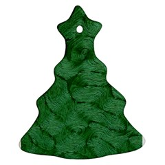 Woven Skin Green Christmas Tree Ornament (2 Sides)
