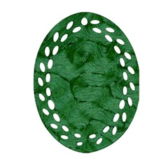 Woven Skin Green Ornament (oval Filigree)