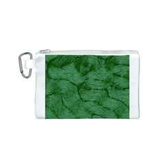 Woven Skin Green Canvas Cosmetic Bag (S)