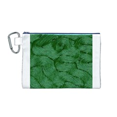 Woven Skin Green Canvas Cosmetic Bag (M)