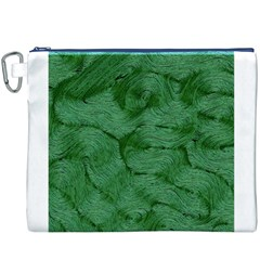 Woven Skin Green Canvas Cosmetic Bag (XXXL)
