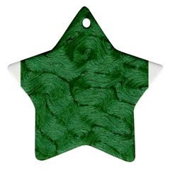 Woven Skin Green Ornament (star)