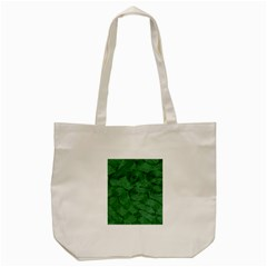 Woven Skin Green Tote Bag (cream)