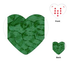 Woven Skin Green Playing Cards (Heart)