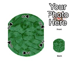 Woven Skin Green Playing Cards 54 (Round)