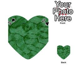 Woven Skin Green Playing Cards 54 (Heart)