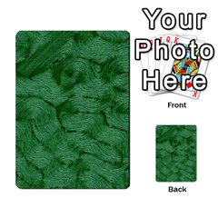 Woven Skin Green Multi Purpose Cards (rectangle)