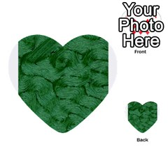 Woven Skin Green Multi-purpose Cards (Heart)