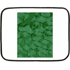 Woven Skin Green Double Sided Fleece Blanket (mini)